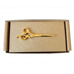 Spona na kravatu MARROM - nůžky gold