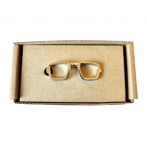 Spona na kravatu MARROM - brýle
