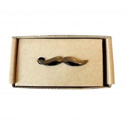 Spona na kravatu MARROM - mustache grafit