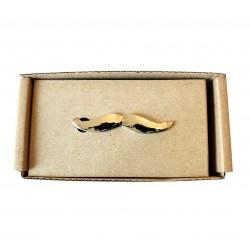 Spona na kravatu MARROM - mustache silver