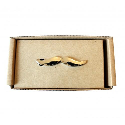 Spona na kravatu MARROM - knírek silver
