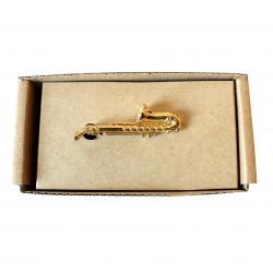 Spona na kravatu MARROM - saxofon