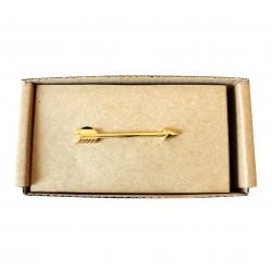 Spona na kravatu MARROM - šíp gold