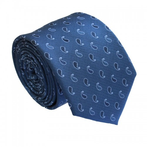 Modrá kravata ANGELO di MONTI ADM-167