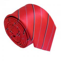Červená kravata ANGELO di MONTI ADM-174
