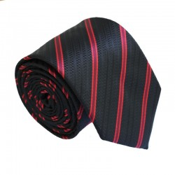Čierna kravata ANGELO di MONTI ADM-175