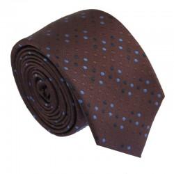 Hnědá kravata ANGELO di MONTI ADM-177
