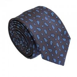 Hnědá kravata ANGELO di MONTI ADM-178