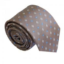 Hnědá kravata ANGELO di MONTI ADM-179