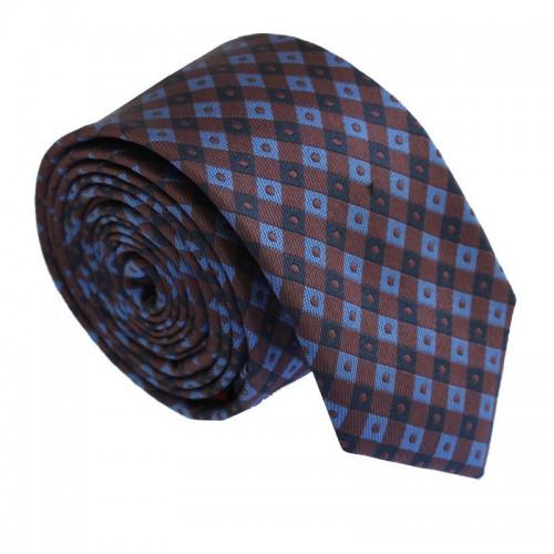 Hnědá kravata ANGELO di MONTI ADM-180