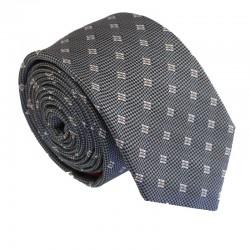 Šedá kravata ANGELO di MONTI ADM-182