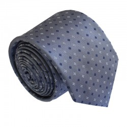 Šedá kravata ANGELO di MONTI ADM-183