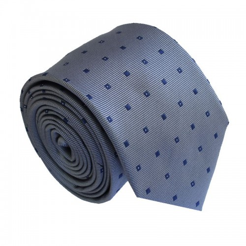 Šedá kravata ANGELO di MONTI ADM-184