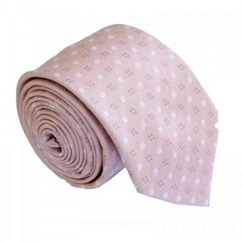 Světle růžová kravata ANGELO di MONTI ADM-190