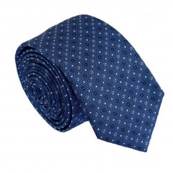 Modrá kravata ANGELO di MONTI ADM-198