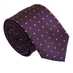 Fialová kravata ANGELO di MONTI ADM-203
