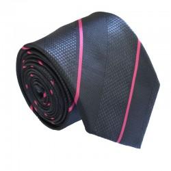 Čierna kravata ANGELO di MONTI ADM-209