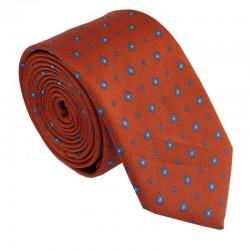 Tmavo oranžová kravata ANGELO di MONTI ADM-210