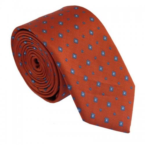 Tmavě oranžová kravata ANGELO di MONTI ADM-210