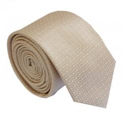 Tmavě krémová kravata ANGELO di MONTI ADM-215