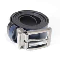 Pásek kožený VERNON oboustranný OP/24 tmavě modrý/černý