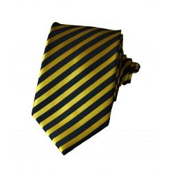 Černě - žlutá kravata ANGELO di MONTI