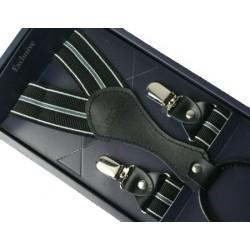 Kšandy - šle - černé s proužky II