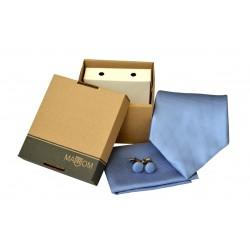 Světle modrá kravata v dárkovém balení MARROM