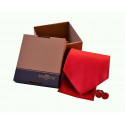 Červená kravata v dárkovém balení MARROM
