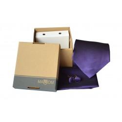 Fialová kravata v dárkovém balení MARROM