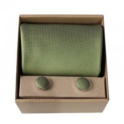 Zelená kravata v dárkovém balení MARROM