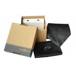 Černá kravata v dárkovém balení MARROM