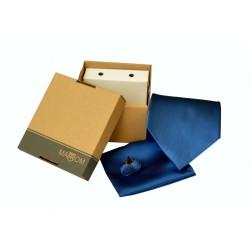 Modrá kravata v dárkovém balení MARROM