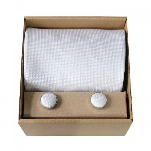 Bílá kravata v dárkovém balení MARROM