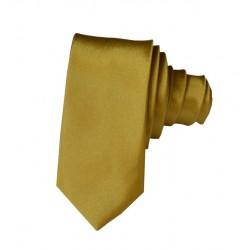 Zeleně/zlatá kravata SLIM - lesklá