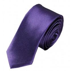 Tmavě fialová kravata SLIM - lesklá